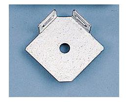 hofe Fußplatte - L-Form einfach - verzinkt, VE 10 Stk