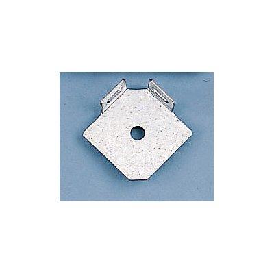 Fußplatte - L-Form einfach - verzinkt, VE 10 Stk
