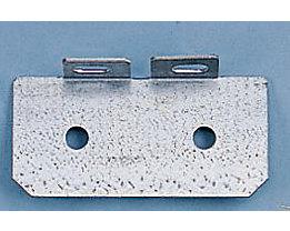 Fußplatte - T-Form doppelt - verzinkt, VE 10 Stk