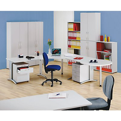 Hammerbacher BIANCA Office-Schrank - HxB 1880 x 800 mm, 5 Ordnerhöhen