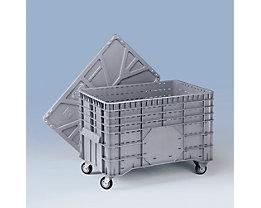 Deckel aus Polyethylen - für LxB 1040 x 640 mm - grau