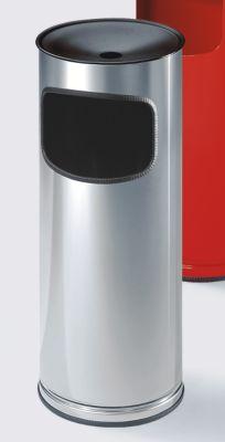 Abfallbehälter mit Sicherheits-Standascher - aus Edelstahl, Volumen 17 Liter - Höhe 610 mm