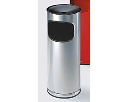Abfallbehälter mit Sicherheits-Standascher - aus Edelstahl, Volumen 17 Liter