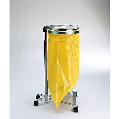 Support sacs-poubelle pour sac de 120 l - châssis roulant à 4 roues