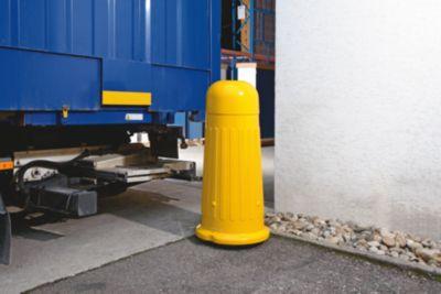 Rammschutz-Poller - für den Innen- und Außenbereich - Gesamthöhe ca. 1300 mm, schwarz / gelb
