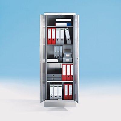 Armoire en inox - armoire de bureau - 4 tablettes