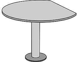 office akktiv STATUS Table additionnel - Ø 1100 mm