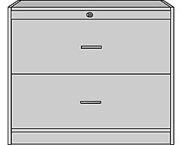 office akktiv STATUS Classeur pour dossiers suspendus - 2 tiroirs, 2 rangées, h x l x p 820 x 1000 x 420 mm