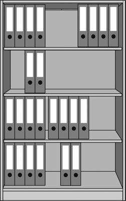 office akktiv STATUS Büroregal - 4 Ordnerhöhen, Breite 1000 mm