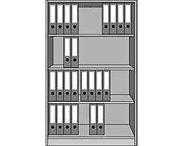 office akktiv STATUS Rayonnage de bureau - 4 hauteurs classeurs, largeur 1000 mm
