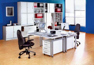 office akktiv STATUS Büroschrank - mit Schiebetüren, 1 Fachboden
