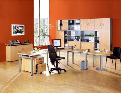 office akktiv STATUS Aufsatzschrank - 1 Fachboden, Schrank offen