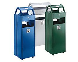 Abfallbehälter mit Ascher - Abfallvolumen 35 l, Aschervolumen 5 l