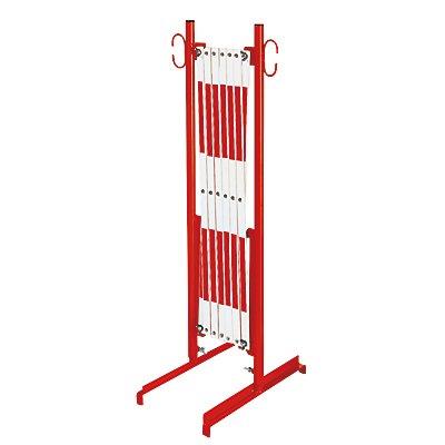 dancop Scherengitter - mit Standfüßen - rot / weiß, Länge max. 3600 mm
