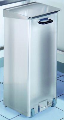 Reinraum-Abfallsammler, Edelstahl - 70 l Inhalt - HxBxT 840 x 370 x 420 mm