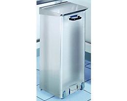 Collecteur de déchets en inox pour salles blanches - capacité 70 l