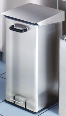 Reinraum-Abfallsammler, Edelstahl - 40 l Inhalt - HxBxT 620 x 320 x 380 mm