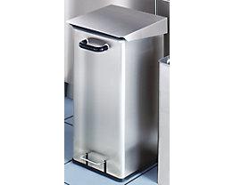 Collecteur de déchets en inox pour salles blanches - capacité 40 l