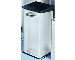 Collecteur de déchets en tôle d'acier pour salles blanches - capacité 40 l