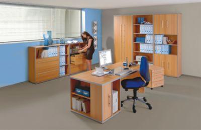 CLEARLINE Schreibtisch mit Wangen - HxBxT 720 x 800 x 800 mm