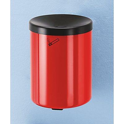 Sicherheits-Wandascher, 6 l Fassungsvermögen - Höhe 250 mm, Ø 180 mm, mit Zylinderschloss