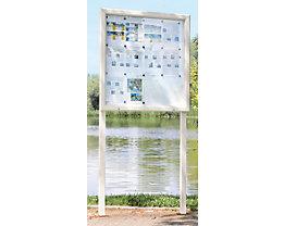 Vitrine d'affichage avec porte ouvrant vers le haut - l x h 1025 x 1067 mm, pour 12 feuilles A4