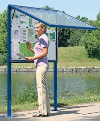 Schaukasten, Horizontalschwenktür - BxH 1025 x 1067 mm, für 12 DIN A4-Blatt