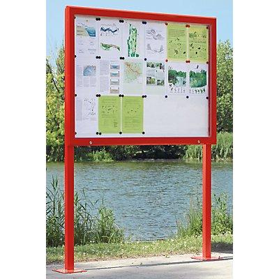 Jansen Display Schaukasten, Horizontalschwenktür - BxH 1685 x 1067 mm, für 21 DIN A4-Blatt