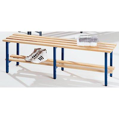 Melzer Metallbau Garderobenbank mit Holzleisten, ohne Lehne - ohne Schuhrost, Länge 2000 mm
