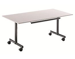 Tisch mit abklappbarer Platte, mobil - HxBxT 720 x 1200 x 800 mm