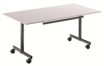 Tisch mit abklappbarer Platte, mobil - HxBxT 720 x 1600 x 800 mm -