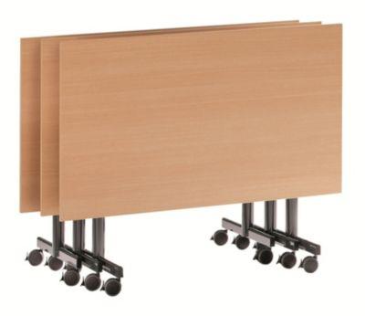 Tisch mit abklappbarer Platte, mobil - HxBxT 720 x 1400 x 800 mm