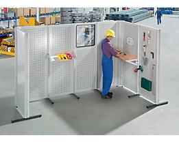 Cloisons modulaires industrielles - élément de base, largeur 800 mm