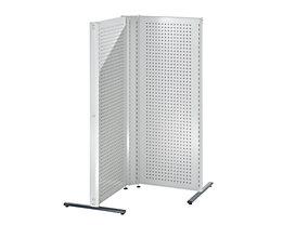 Cloisons modulaires industrielles - combinaison d'angle, côté gauche, 90°