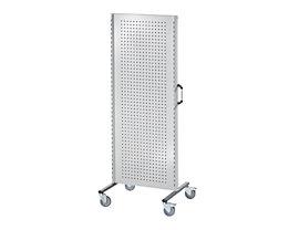 Cloisons modulaires industrielles - élément de base mobile, largeur 800 mm