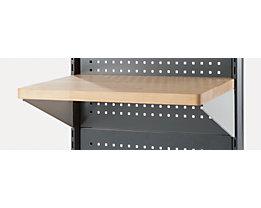 ANKE Arbeitsplatte für Trennwandelement - Rechteck, BxT 760 x 500 mm - inkl. Einhängewinkel