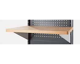 Arbeitsplatte für Trennwandelement - Trapez, BxT 830 / 1000 x 500 mm - inkl. Einhängewinkel