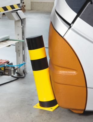 Rammschutz-Poller, flexibel - für innen, gelb / schwarz - Ø 159 mm