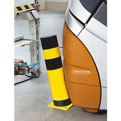Rammschutz-Poller, flexibel - für außen, gelb / schwarz - Ø 159 mm