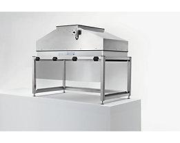 Module de table à flux laminaire en inox - hauteur 994 mm