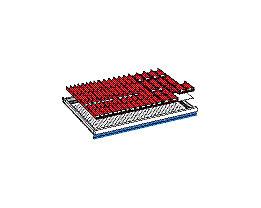 Schubladeneinteilungsset - Muldeneinsätze - für Höhe 50 mm