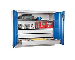 CP Armoire grande capacité - armoire hauteur bureau, 2 tablettes, 3 tiroirs