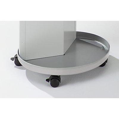 Fahrsatz - 4 Brems-Lenkrollen - für Wertstoffsammelstation Ø 420 mm