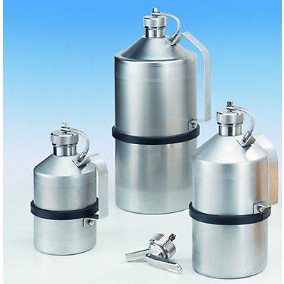 Lager- / Transportbehälter mit Schraubkappe für Labor - Edelstahl, Inhalt 1 l