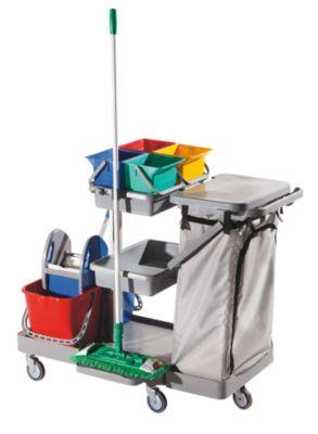 Hygiene-Reinigungswagen - HxBxT 1130 x 520 x 1135 mm - mit 4 Rollen