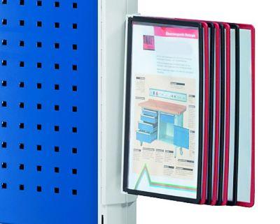 Sichttafelwender - mit 10 Tafeln DIN A4 - lichtgrau