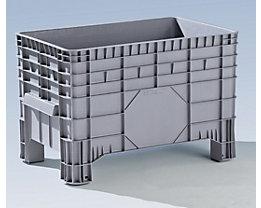 Großbehälter aus Polyethylen - Inhalt 285 l, 4 Füße zum Unterfahren - ab 5 Stk