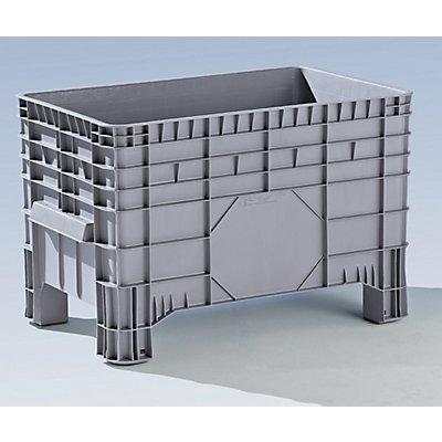 Conteneur grande capacité en polyéthylène - capacité 285 l, 4 pieds avec passages pour fourches
