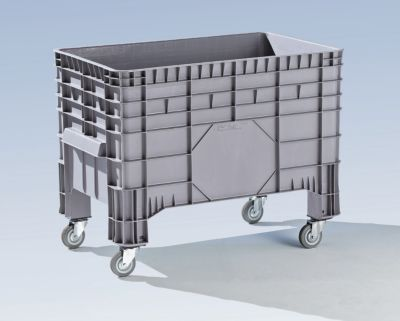 Großbehälter aus Polyethylen - Inhalt 285 l, 4 Füße und 4 Lenkrollen