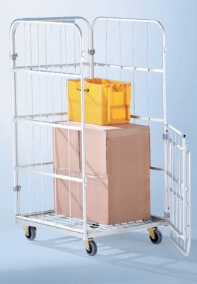 Aluminium-Rollbehälter - Grundausführung, HxBxT 1520 x 720 x 810 mm - Gewicht 16 kg